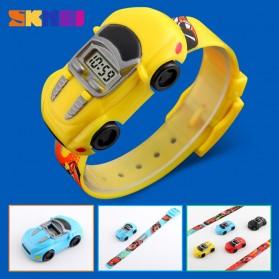 SKMEI Jam Tangan LED Anak - Anak Bentuk Mobil - DG1241 - Yellow - 3