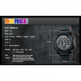 SKMEI Jam Tangan Sporty Pria - DG1258 - Black Gold - 8