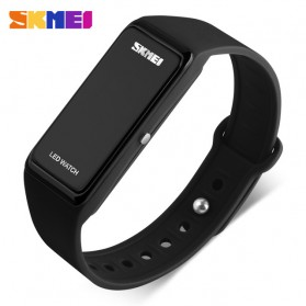 SKMEI Wristband Jam Gelang LED - 1265A - Black