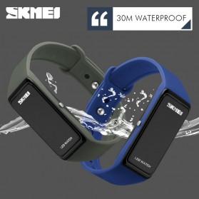 SKMEI Wristband Jam Gelang LED - 1265A - Army Green - 3