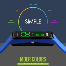 SKMEI Wristband Jam Gelang LED - 1265A - Army Green - 5