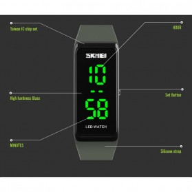 SKMEI Wristband Jam Gelang LED - 1265A - Army Green - 6