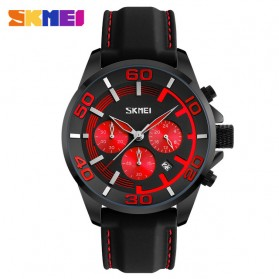 SKMEI Jam Tangan Analog Pria - 9154CL - Black/Red