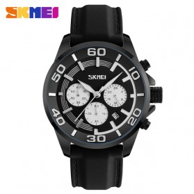 SKMEI Jam Tangan Analog Pria - 9154CL - Black White