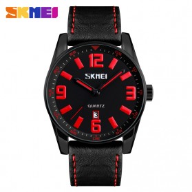 SKMEI Jam Tangan Analog Pilot Design Pria - 9137CL - Black/Red