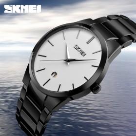 SKMEI Jam Tangan Analog Pria - 9140CS - Black/Silver - 5