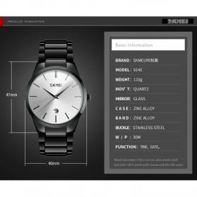 SKMEI Jam Tangan Analog Pria - 9140CS - Black/Silver - 7
