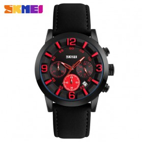 SKMEI Jam Tangan Analog Pria - 9147CL - Black/Red