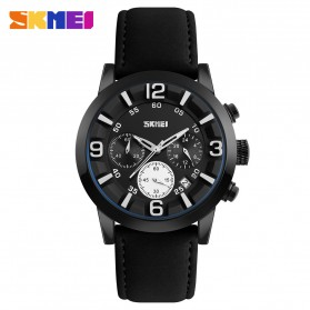 SKMEI Jam Tangan Analog Pria - 9147CL - Black White