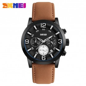 SKMEI Jam Tangan Analog Pria - 9147CL - Brown/Black