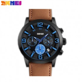 SKMEI Jam Tangan Analog Pria - 9147CL - Brown/Blue