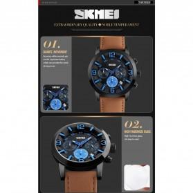 SKMEI Jam Tangan Analog Pria - 9147CL - Brown/Blue - 2