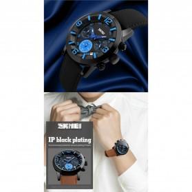 SKMEI Jam Tangan Analog Pria - 9147CL - Brown/Blue - 6