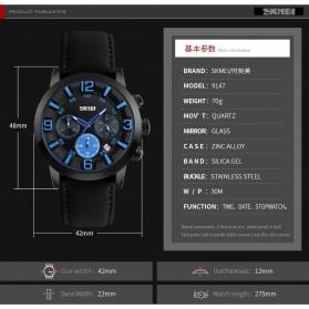 SKMEI Jam Tangan Analog Pria - 9147CL - Brown/Blue - 7