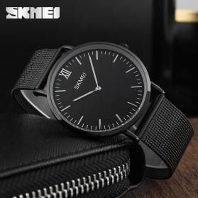 SKMEI Jam Tangan Analog Pria Stainless Steel - 1181C - Black/Black - 2