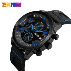 SKMEI Jam Tangan Analog Pria - 9153CL - Black/Blue - 2
