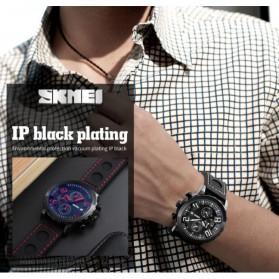 SKMEI Jam Tangan Analog Pria - 9153CL - Black/Blue - 5