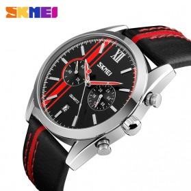 SKMEI Jam Tangan Analog Pria - 9148CL - Black/Red - 2