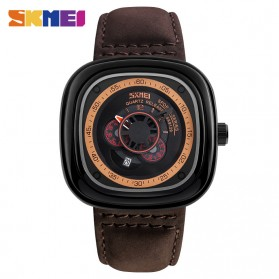 SKMEI Jam Tangan Analog Pria - 9129 - Brown/Black