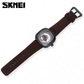 SKMEI Jam Tangan Analog Pria - 9129 - Brown/Black - 2