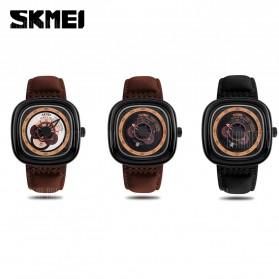 SKMEI Jam Tangan Analog Pria - 9129 - Brown/Black - 3
