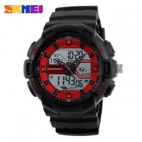 SKMEI Jam Tangan Digital Analog Pria - 1189 - Black/Red