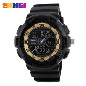 SKMEI Jam Tangan Digital Analog Pria - 1189 - Black Gold