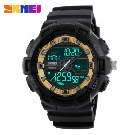 SKMEI Jam Tangan Digital Analog Pria - 1189 - Black Gold - 2