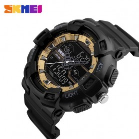 SKMEI Jam Tangan Digital Analog Pria - 1189 - Black Gold - 3