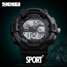 SKMEI Jam Tangan Digital Analog Pria - 1189 - Black Gold - 5