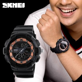 SKMEI Jam Tangan Digital Analog Pria - 1189 - Black Gold - 6