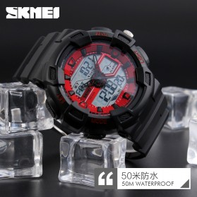 SKMEI Jam Tangan Digital Analog Pria - 1189 - Black Gold - 7