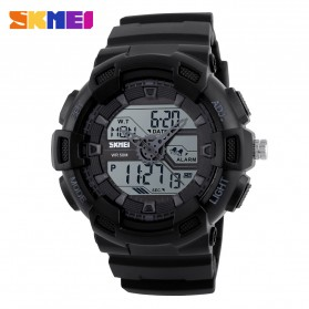 SKMEI Jam Tangan Digital Analog Pria - 1189 - Black
