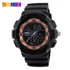 SKMEI Jam Tangan Digital Analog Pria - 1189 - Black/Rose