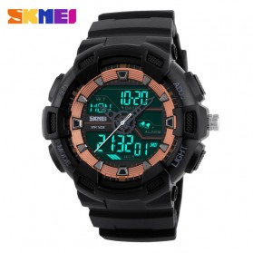 SKMEI Jam Tangan Digital Analog Pria - 1189 - Black/Rose - 3