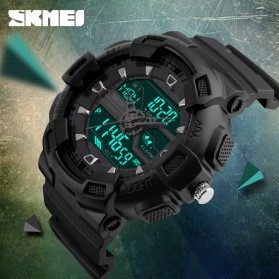 SKMEI Jam Tangan Digital Analog Pria - 1189 - Black/Rose - 4