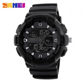 SKMEI Jam Tangan Digital Analog Pria - 1189 - Black/Black
