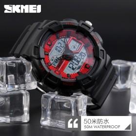 SKMEI Jam Tangan Digital Analog Pria - 1189 - Black/Black - 6