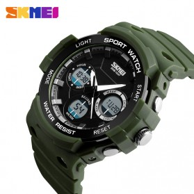 SKMEI Jam Tangan Digital Analog Pria - AD1247 - Army Green - 2