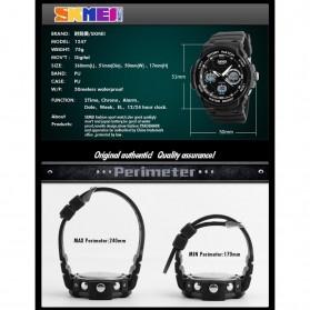SKMEI Jam Tangan Digital Analog Pria - AD1247 - Army Green - 8