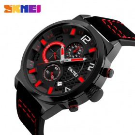 SKMEI Jam Tangan Analog Pria - 9149CL - Black/Red
