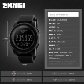 SKMEI Jam Tangan Digital Pria - DG1257 - Black - 8
