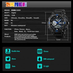 SKMEI Jam Tangan Analog Digital Pria - AD1228 - Black - 6