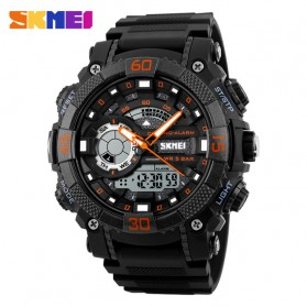 SKMEI Jam Tangan Analog Digital Pria - AD1228 - Black/Orange