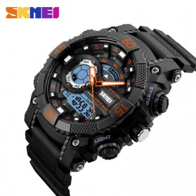 SKMEI Jam Tangan Analog Digital Pria - AD1228 - Black/Orange - 2
