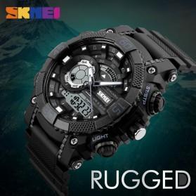 SKMEI Jam Tangan Analog Digital Pria - AD1228 - Black/Orange - 3