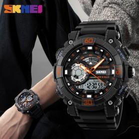 SKMEI Jam Tangan Analog Digital Pria - AD1228 - Black/Orange - 4