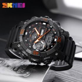 SKMEI Jam Tangan Analog Digital Pria - AD1228 - Black/Orange - 5