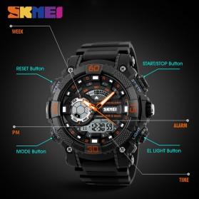 SKMEI Jam Tangan Analog Digital Pria - AD1228 - Black/Orange - 7
