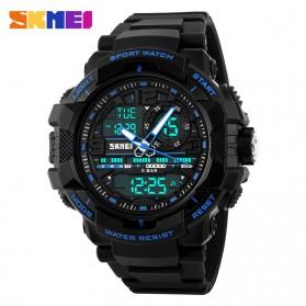 SKMEI Jam Tangan Analog Digital Pria - AD1164 - Black/Blue - 2